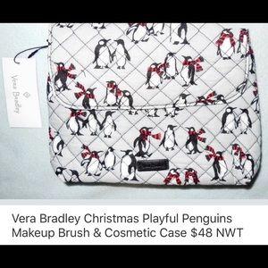 VERA BRADLEY BRUSH AND COSMETIC CASE
